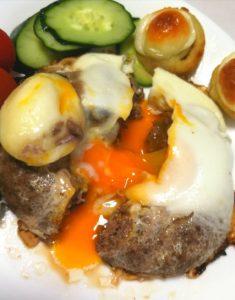 ノースコンチネントのハンバーグステーキ